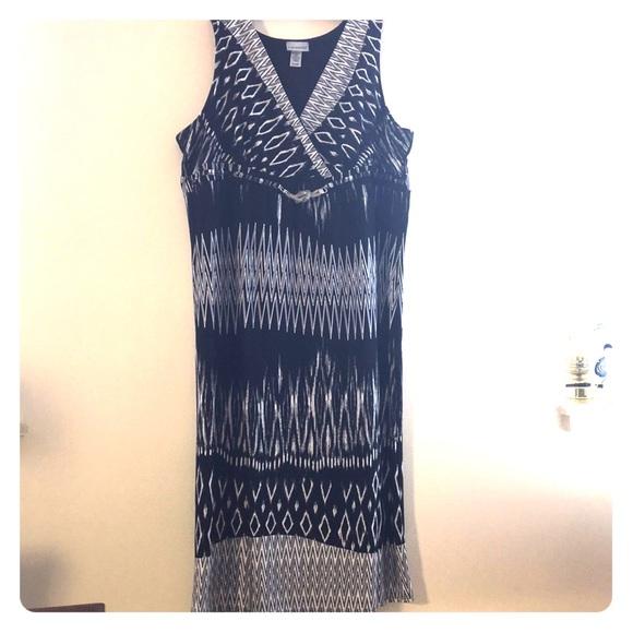 3XWP Graphic Maxi Dress Plus Size Petite 3X Superb